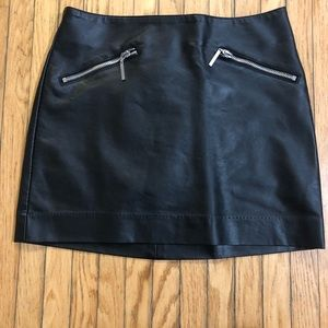 H&M faux leather mini skirt with zipper detail